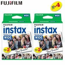 40 пленок Fujifilm Instax Wide Instant White Edge для камеры Fuji 100 200 210 300 500AF Lomography photo