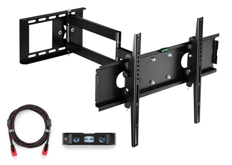 "Articulating TV Wall Mount Bracket for 26""-55""LCD LED Plasma 3D TV with VESA up to 400x400, Full Motion Tilt Swivel long arm"