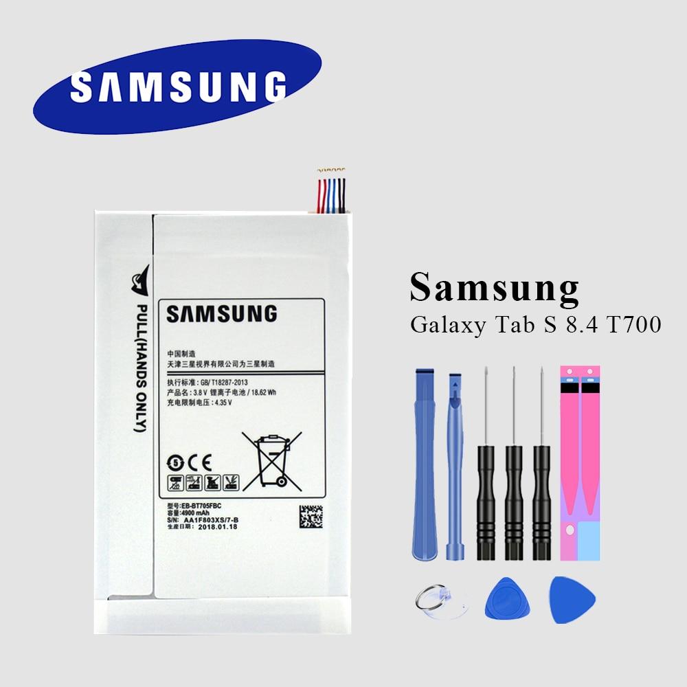 EB-BT705FBE dorigine pour Samsung GALAXY Tab S 8.4 Samsung tablette batterie SM-T700 T701 T705 EB-BT705FBC 4900mAh