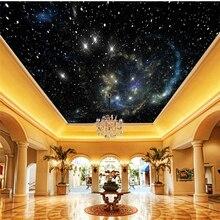 Wellyu-papier peint Photo 3d stéréo   Étoiles, plafond spatial, papier peint décoratif, papel de paréo, pour murs, 3d