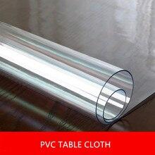 1.5mm/2mm/3mm grubości pcv obrusy przezroczysty obrus prostokąt Protector podkładka na biurko miękkie szkło jadalnia Top obrus Dec
