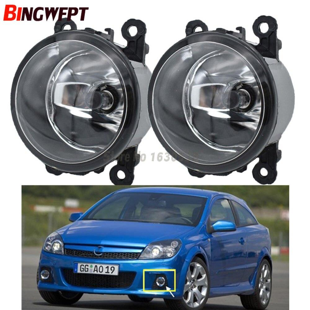 2 uds. Fuentes de luz halógena para coche lámparas antiniebla de estilo de coche 1 Juego para Opel Vauxhall Astra OPC H 2005-2010