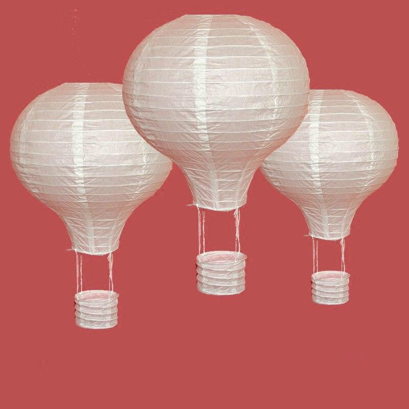 1pc White 10/12/14/16inch Hot Air Balloon Paper Lantern Chinese Wishing Lantern Wedding Decor Kids Birthday Party Home Supplies