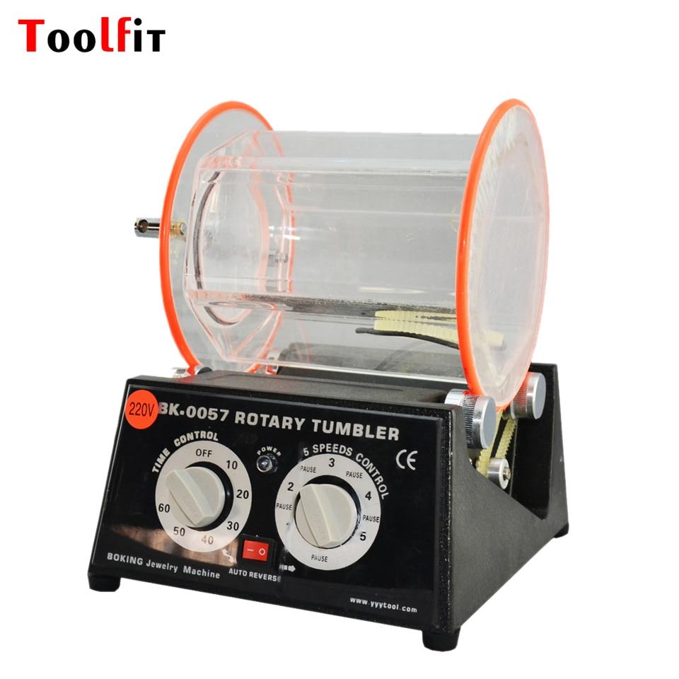 Toolfit Variable Speed Rotary Tumbler 220V Capacity 5kg For Polishing Jewelry Polisher Finisher Jewelry Machine&Equipment