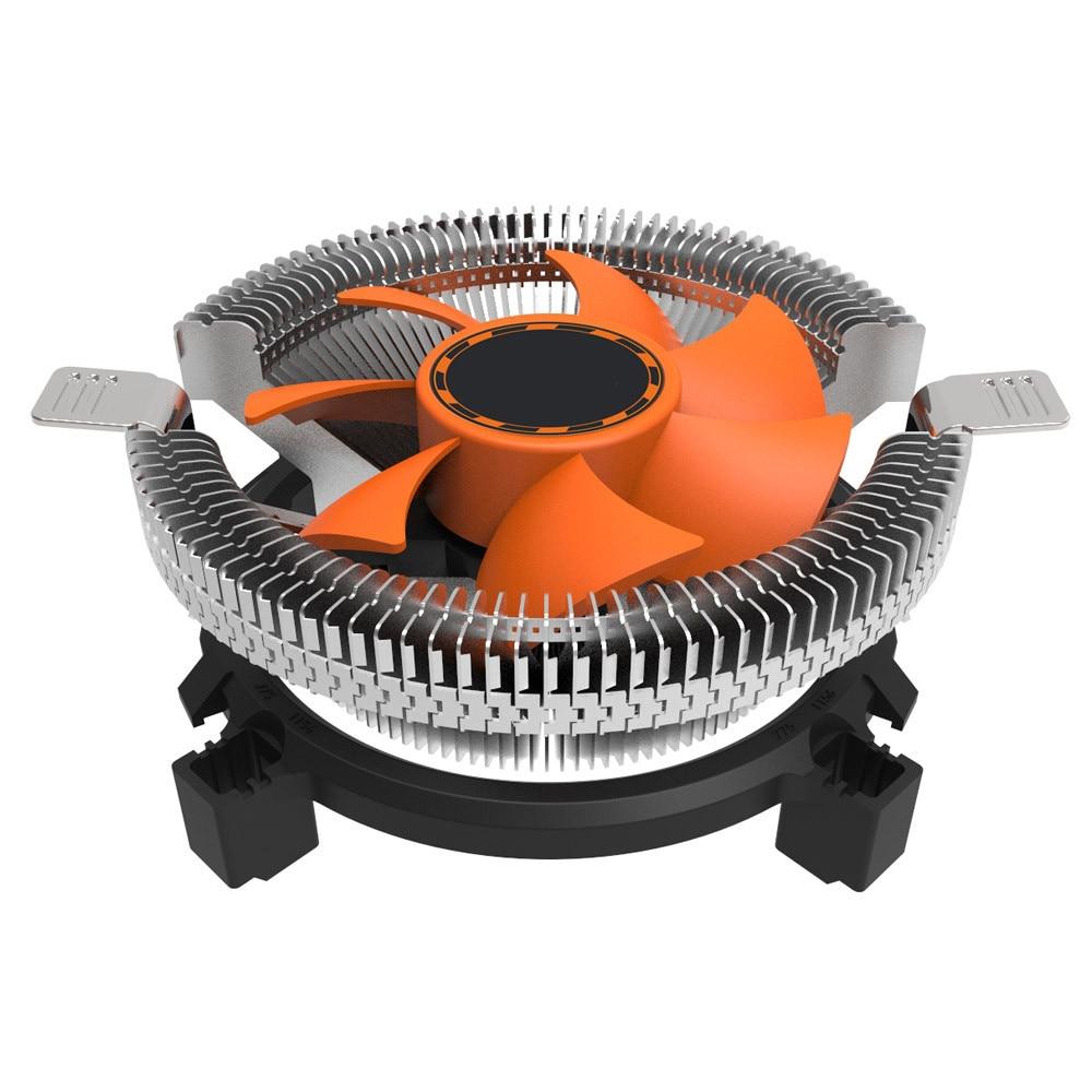 New low noise CPU Cooling Cooler Fan Heatsink 7 Blade For Intel LGA 775 1155 1156 AMD 754 AM2#T2