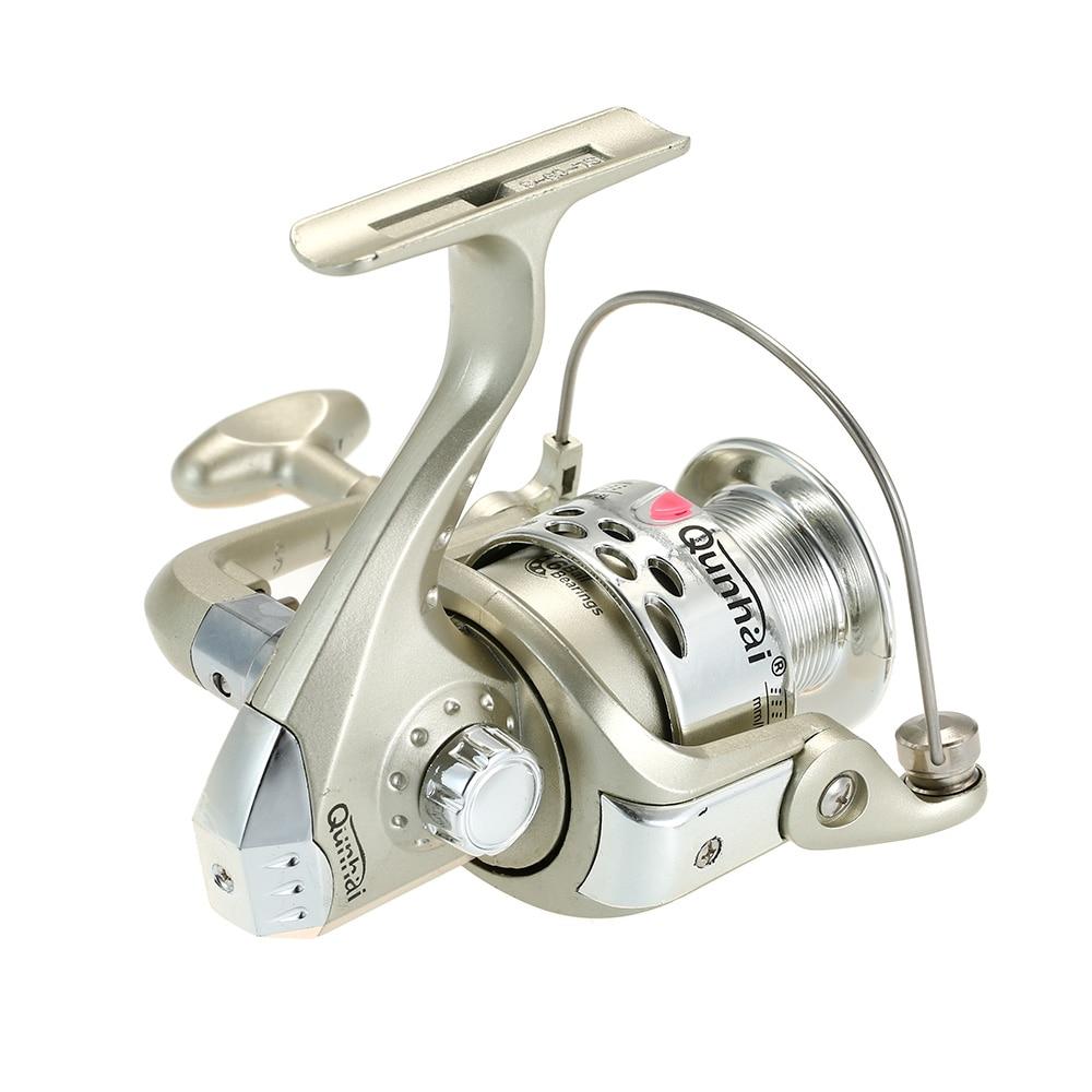 QUNHAI 5.1:1 Spinning Fishing Reel 6BB Ball Bearings Left/Right handle boat Fishing Bait Reels 200g carpa molinete de pesca