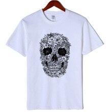 100% katoen skull print vrouwen t-shirt casual korte mouw vrouwen t-shirt vrouwelijke losse zomer t-shirt tee shirts 2019