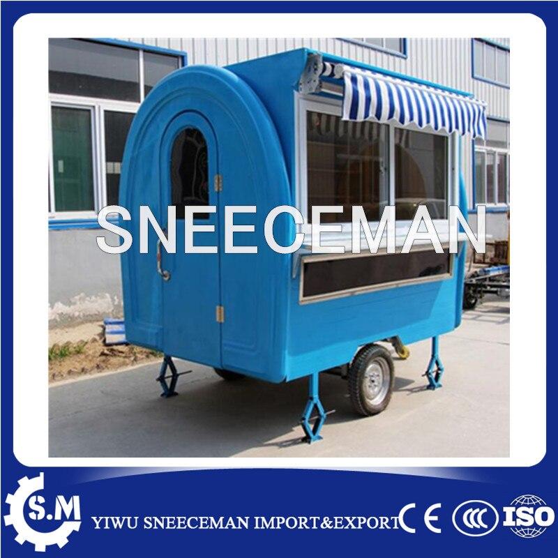 Quiosques de carrinhos de comida comida de rua carro reboque comida móvel com rodas
