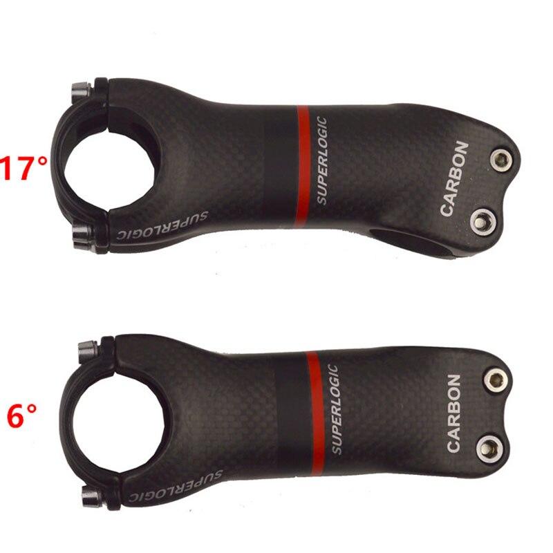 3k ماتي كامل إطار دراجة مصنوع من ألياف الكربون الجذعية الطريق/متب الكربون الجذعية دراجة أجزاء زاوية 6/17 درجة دراجة أجزاء Accessories70-130MM