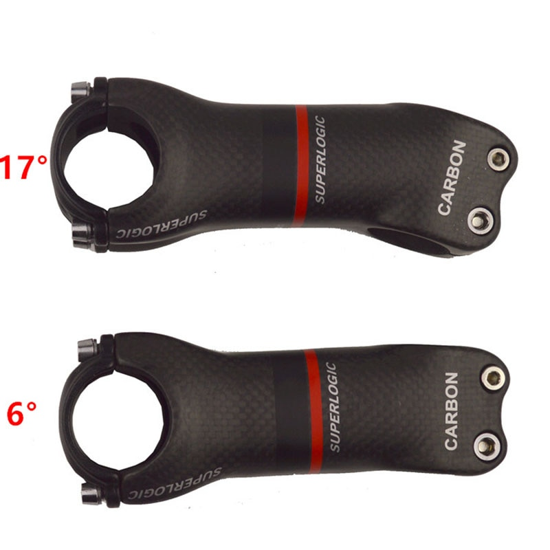 Руль для велосипеда superlogic 3 k, матовый полностью из углеродного волокна, Дорожный/MTB углеродный стержень для велосипеда, угол 6/17 градусов, Аксессуары для велосипеда