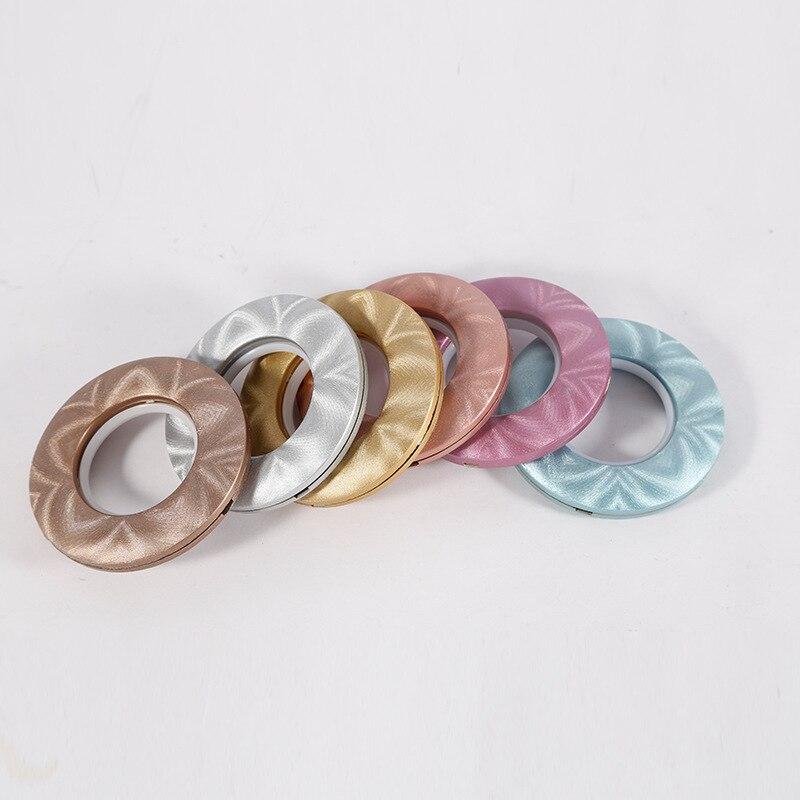 20/40/80 unids/lote accesorios de cortina de decoración del hogar de alta calidad anillos de plástico de 15 colores ojales para cortinas ojal superior