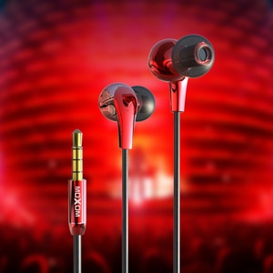 MOXOM Earphones With Mic 3.5mm High Fideli In-ear Earphone Wired Earbuds In Ear Headset Sport Earbuds for Samsung for iPhone