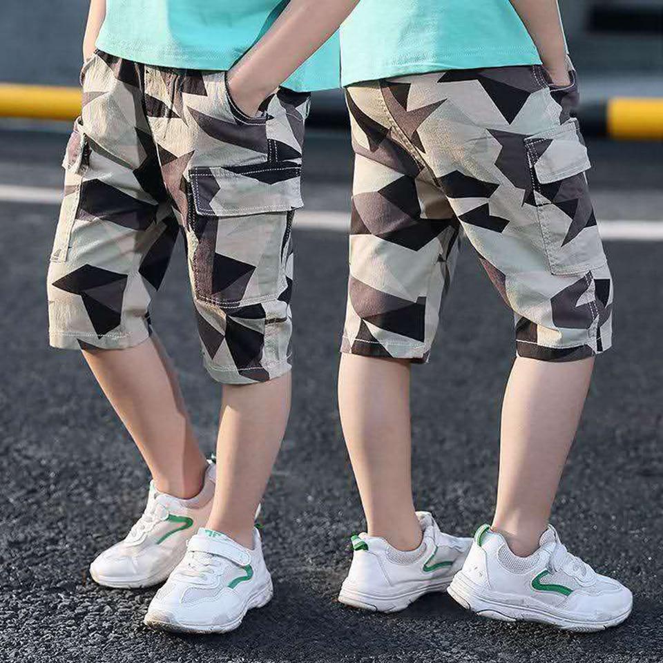 High Quality 2 Colors Summer Kids Boys Short Pants Soft Elastic Waist Cotton Shorts For Children 3T-12 Yrs Toddler Boy Clothes