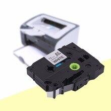 Kze-231 professionnel noir sur blanc 12MM etiqueteuse ruban adhésif universel compatible avec la cartouche Brother P-TOUCH