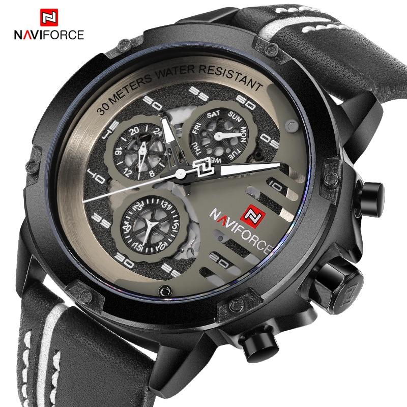 Новые NAVIFORCE мужские креативные спортивные военные часы мужские наручные часы в деловом стиле мужские роскошные повседневные наручные часы ...