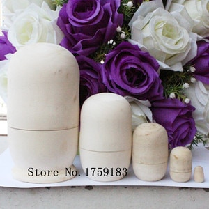 10 sets of Russian Nesting Dolls ,Matryoshka Wood a set of is 5pcs Unpainted High-quality basswood made Toy Handicraft DIY, GH05