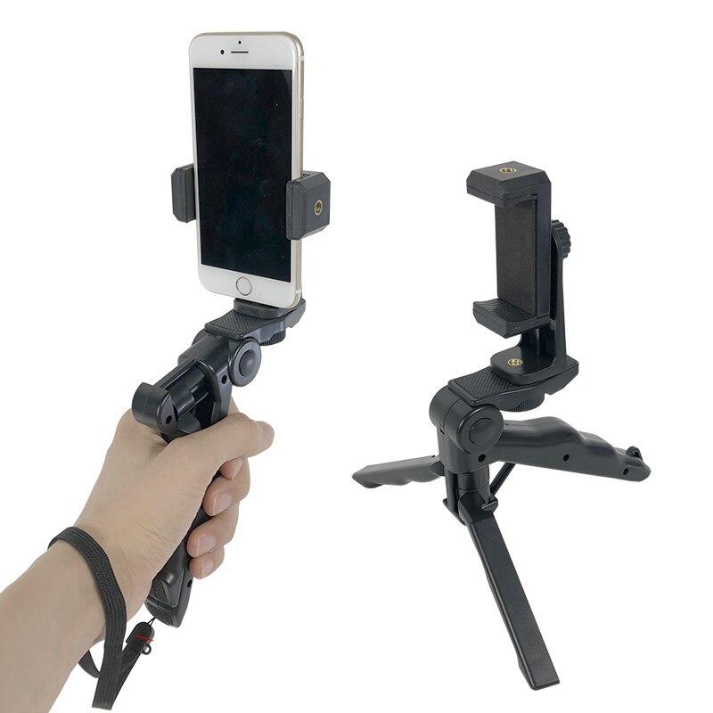 Mini Telefone Clipe Monte Extensível Handheld Estabilizador & Rotatable Tripé Suporte para Iphone Samsung Huawei Xiaomi yi Action Camera