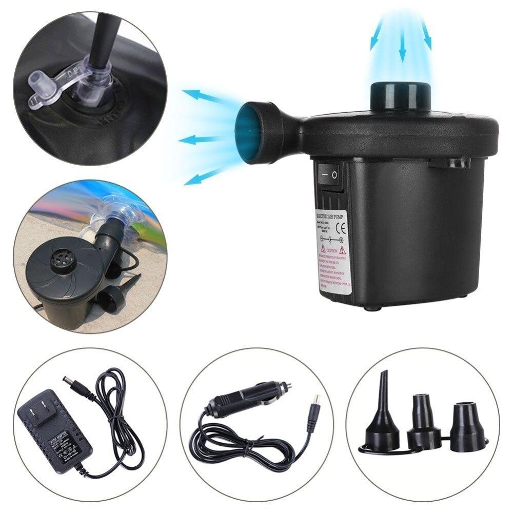 Bomba de aire eléctrica batería de níquel-cadmio bomba de aire inflable inflar bombas de desinflado coche inflador Electropump Con 3 boquillas