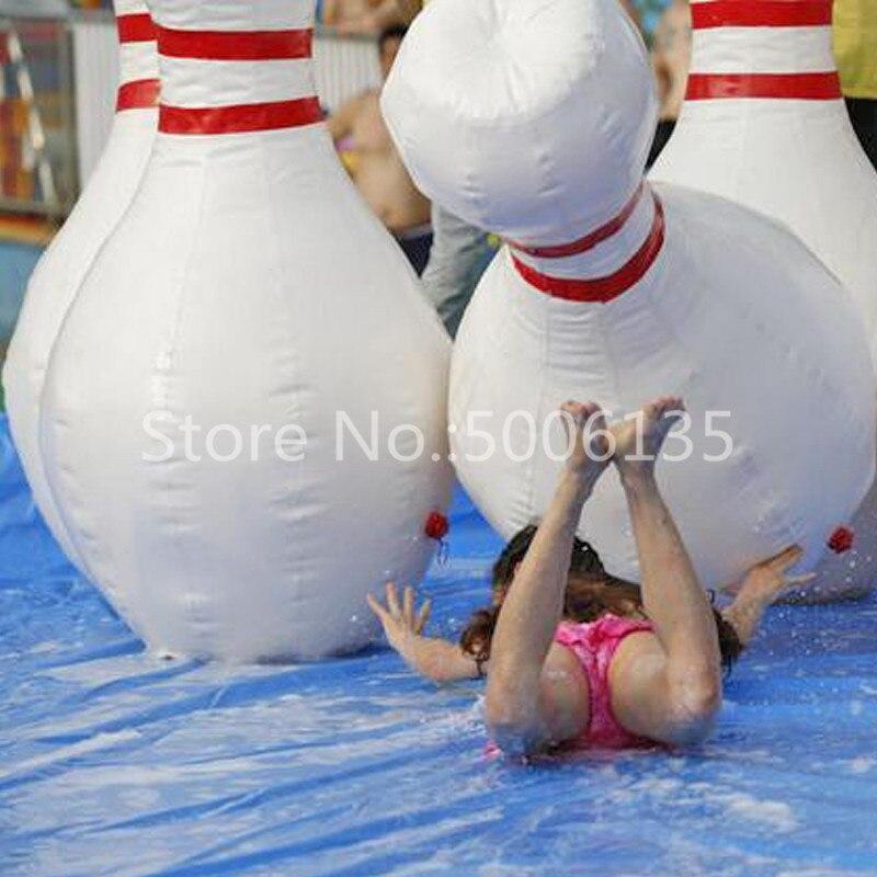 الطفل في الهواء الطلق داخلي الرياضة لعبة 70 بوصة 1.8m نفخ قوارير البولينغ مجموعة لعبة 6 قطعة نفخ البولينج