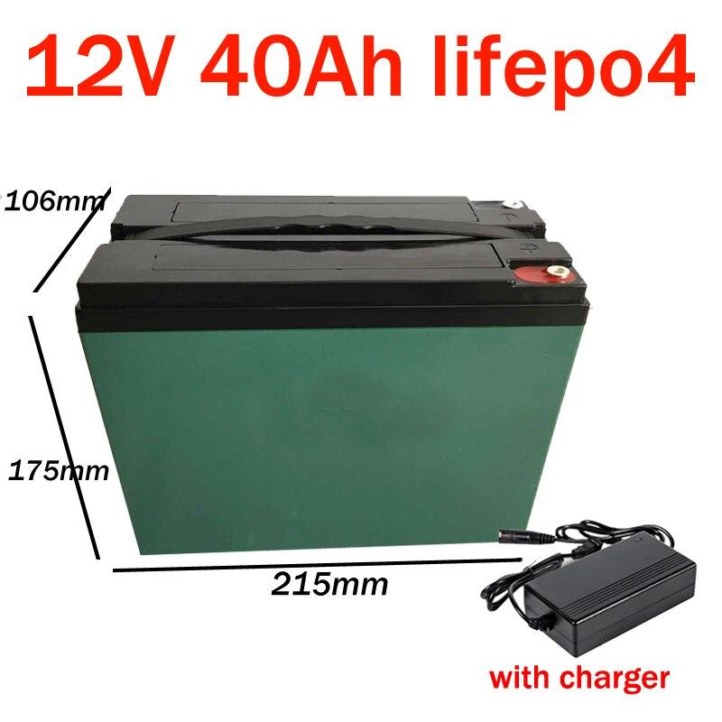 GTK 12v 40ah LiFePO4 batería 40AH energía Solar coche de Golf UPS 14,6 V Deep cyclic descarga banco de energía eBike con cargador BMS + 3A