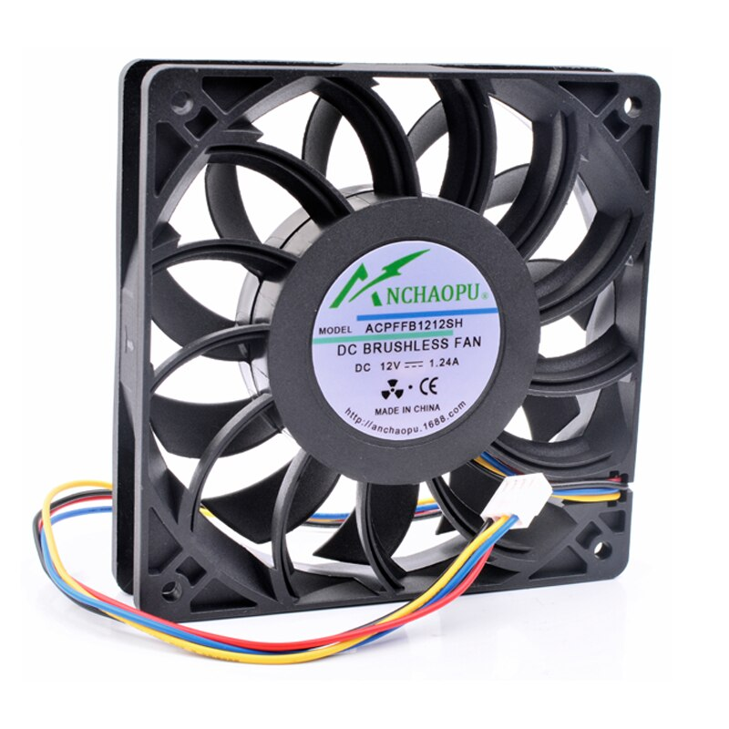 Marke neue original ANCHAOPU FFB1212SH 12 cm 12025 120mm fan DC12V 1.24A 4 linien pwm high speed server chassis lüfter
