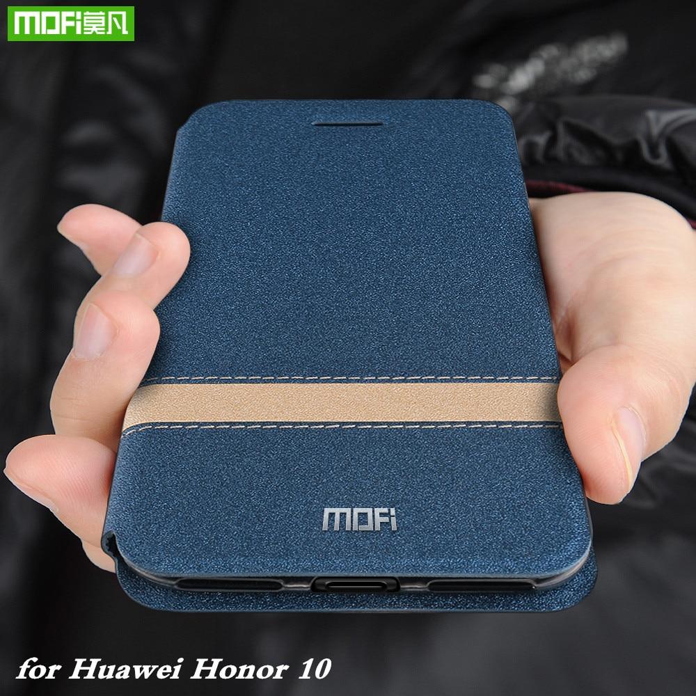 MOFi флип-чехол для Huawei Honor 10, чехол для Honor10, силиконовый мягкий ТПУ Корпус, искусственная кожа, чехол для книги, оригинальный тонкий Чехол