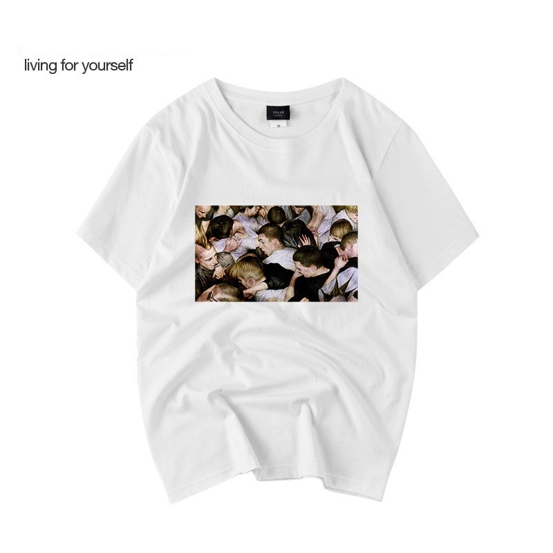 Camiseta panic at the disco Original, Camiseta estampada de moda, camiseta fina de cuello redondo para hombre, camiseta de manga corta WGTX36