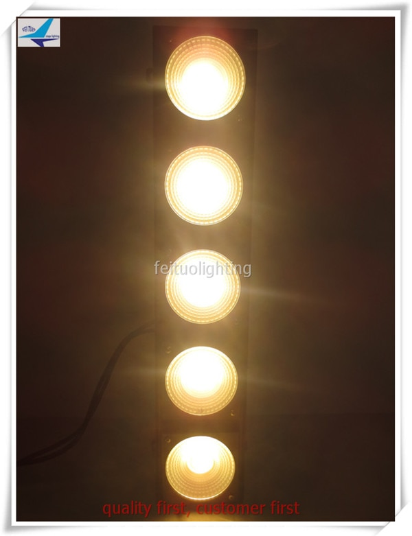 6/lote wash led de pared matriz 5x30W blanco cálido COB led panel con dmx etapa lineal lavado luz cegadora