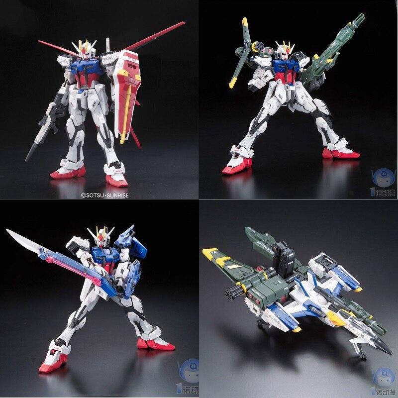 Original Gundam RG 1/144 Modell STREIK GUNDAM SEED & SKYGRASPER WAFFEN SET KIRA YAMATO Mobile Anzug Kinder Spielzeug