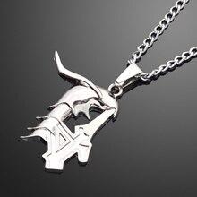 Mode litchi Cosplay javel Ulquiorra Cifer 4th lame creuse Logo pendentif chaîne collier Anime accessoires