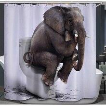 Elefante cortinas de ducha 3D impreso de poliéster impermeable cortina de baño accesorios de baño 180x180 cm cortina hogar Decoración