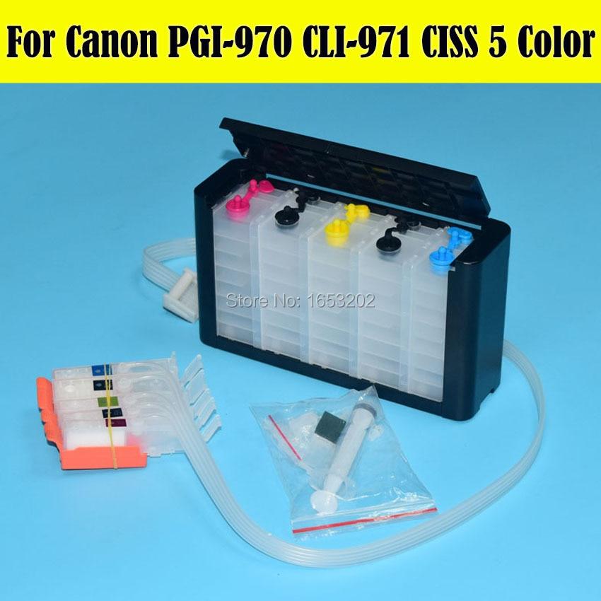 5 Color/Set PGI-970 PGI-971 sistema Ciss para Canon PIXMA MG5790 MG5795 cartucho de impresora con arco Chip