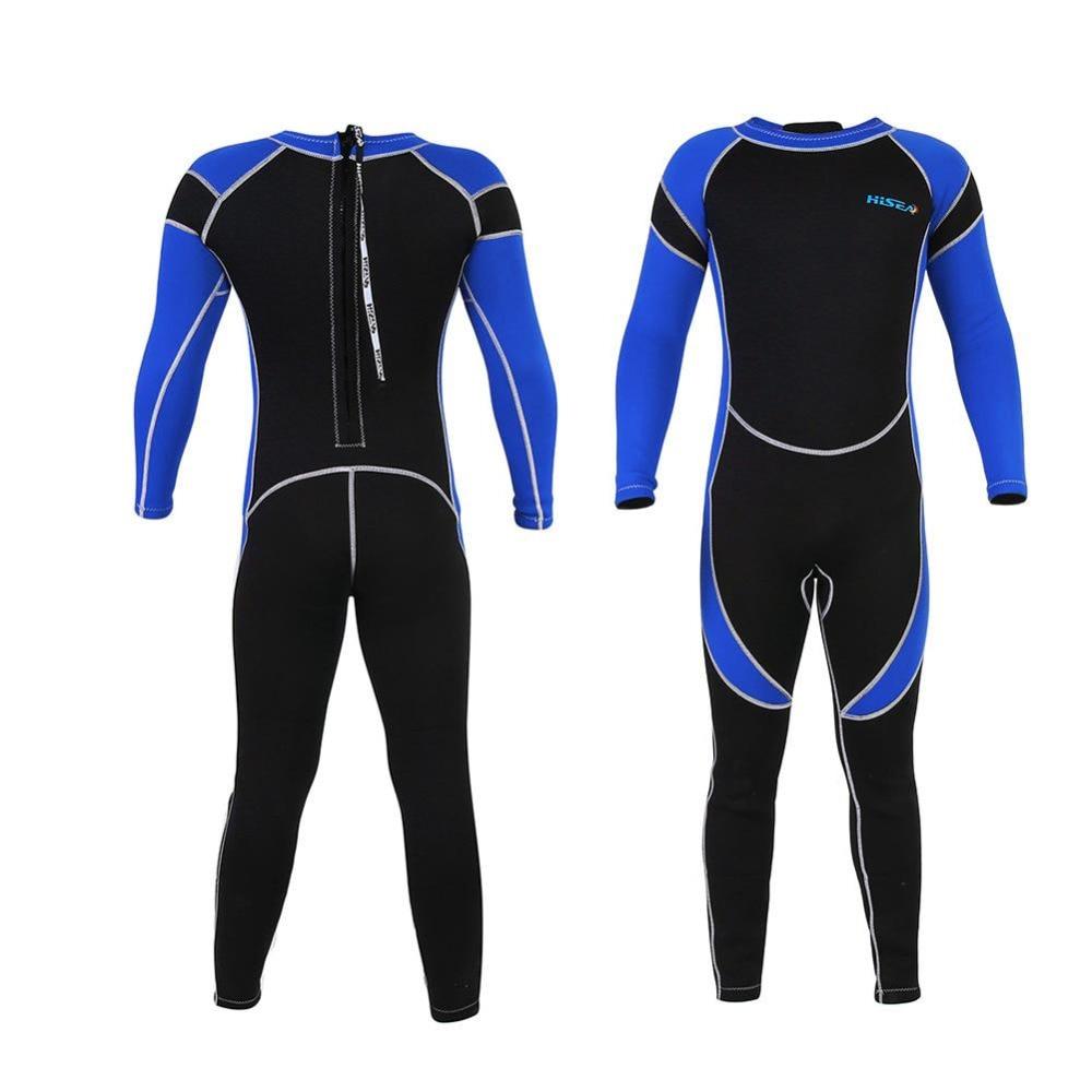 Traje de buceo de neopreno de 2,5 MM para niños, traje de baño húmedo para niños, traje de buceo de una pieza para surf, traje de baño para niños