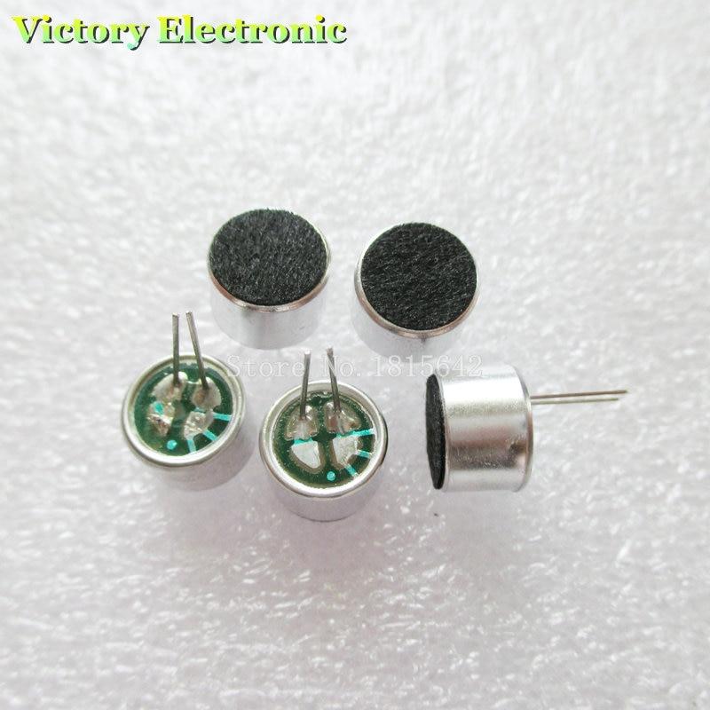 10 sztuk/partia 2 Pin 9*7mm 9.5mm Dia MIC kapsułka skraplacz elektretowy mikrofon Pickup 2 Pin 9*7mm Polar mikrofon