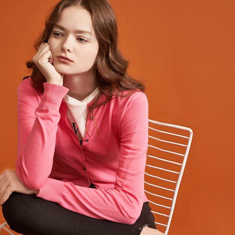 Toyouth feminino básico de malha casaco cardigan 2019 primavera magro sólidos blusas casual o pescoço manga longa crochê camisola de malha