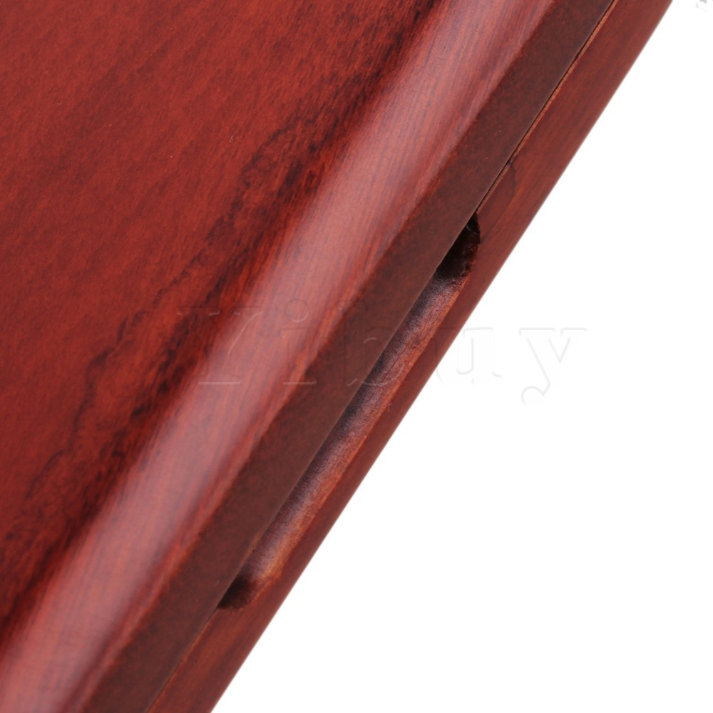 Yibuy Beautiful Wooden Oboe Reed Box Hold 6 pcs Reeds Strong Reed Case Red enlarge