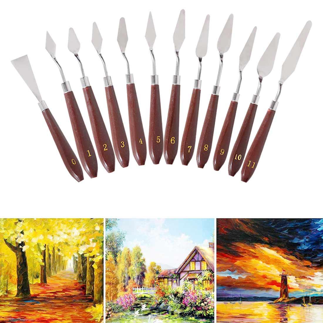 Paleta para dibujar espátula, cajón, cuchillo de acuarelas, pigmento de estudiante, mezcla de aceite, rascador, textura, herramienta de pintura de pintor, Arte Artístico