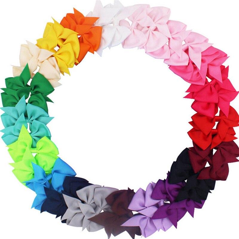 Lindo niñas diademas de Color sólido lazo cintas niñas cabeza pelo banda de accesorios de moda adorno de pelo para niños diadema infantil