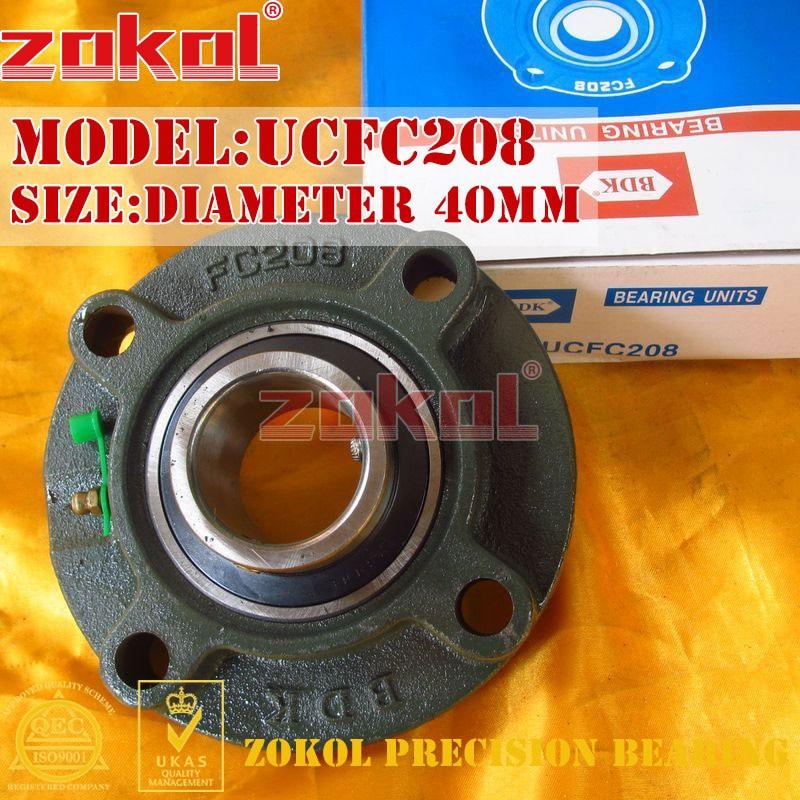 Rodamiento zokol brida cojinete de cartucho unidades UCFC208 TY90508Y almohada bloque de Cojinete de bolas diámetro 40mm