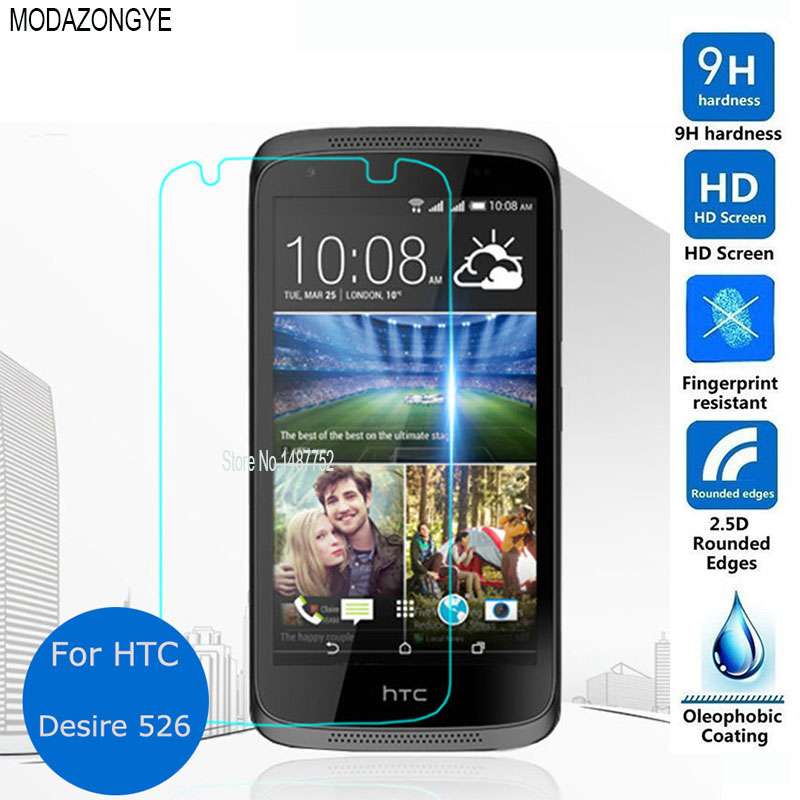 2 piezas para vidrio templado HTC deseo 526g Protector de pantalla para HTC deseo 526 526G D526 Dual SIM protector de pantalla película protectora