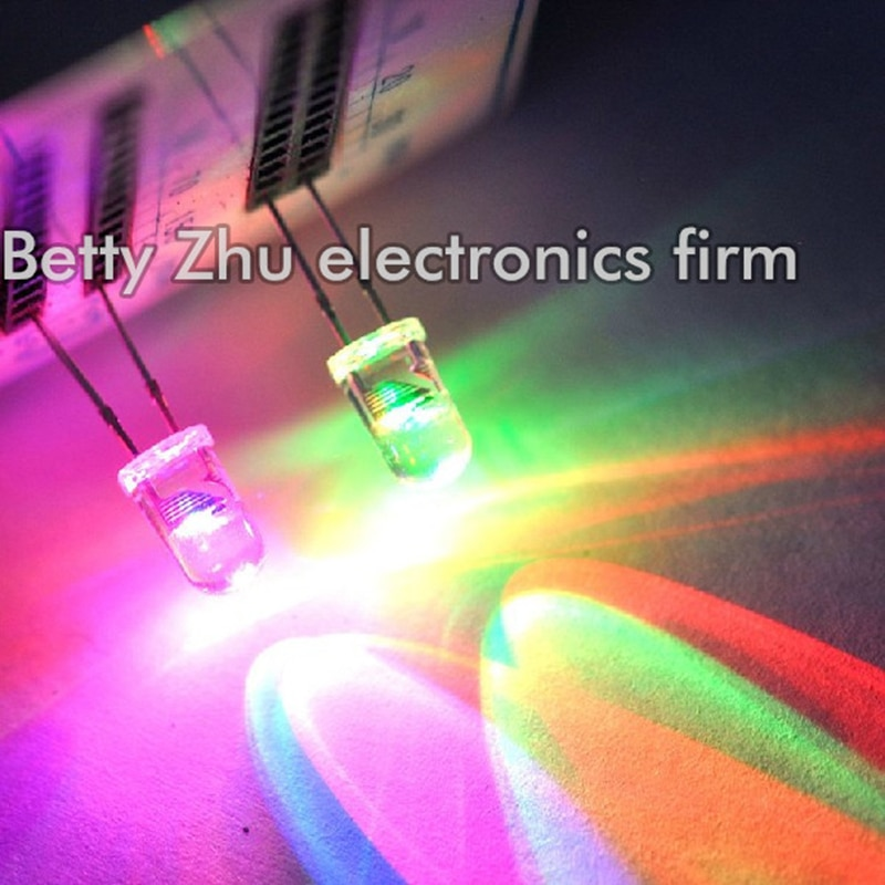 200 unids/lote 5 MM redondo colorido LED diodo emisor de luz flash...