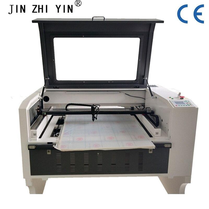 100w co2 máquina cortadora de grabado láser 6090 tazas máquina de grabado láser control RUIDA