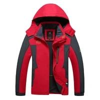 weight 130kg can wear men outdoor windbreaker warm softshell mens hiking jackets waterproof big size 7xl 8xl male camping coats