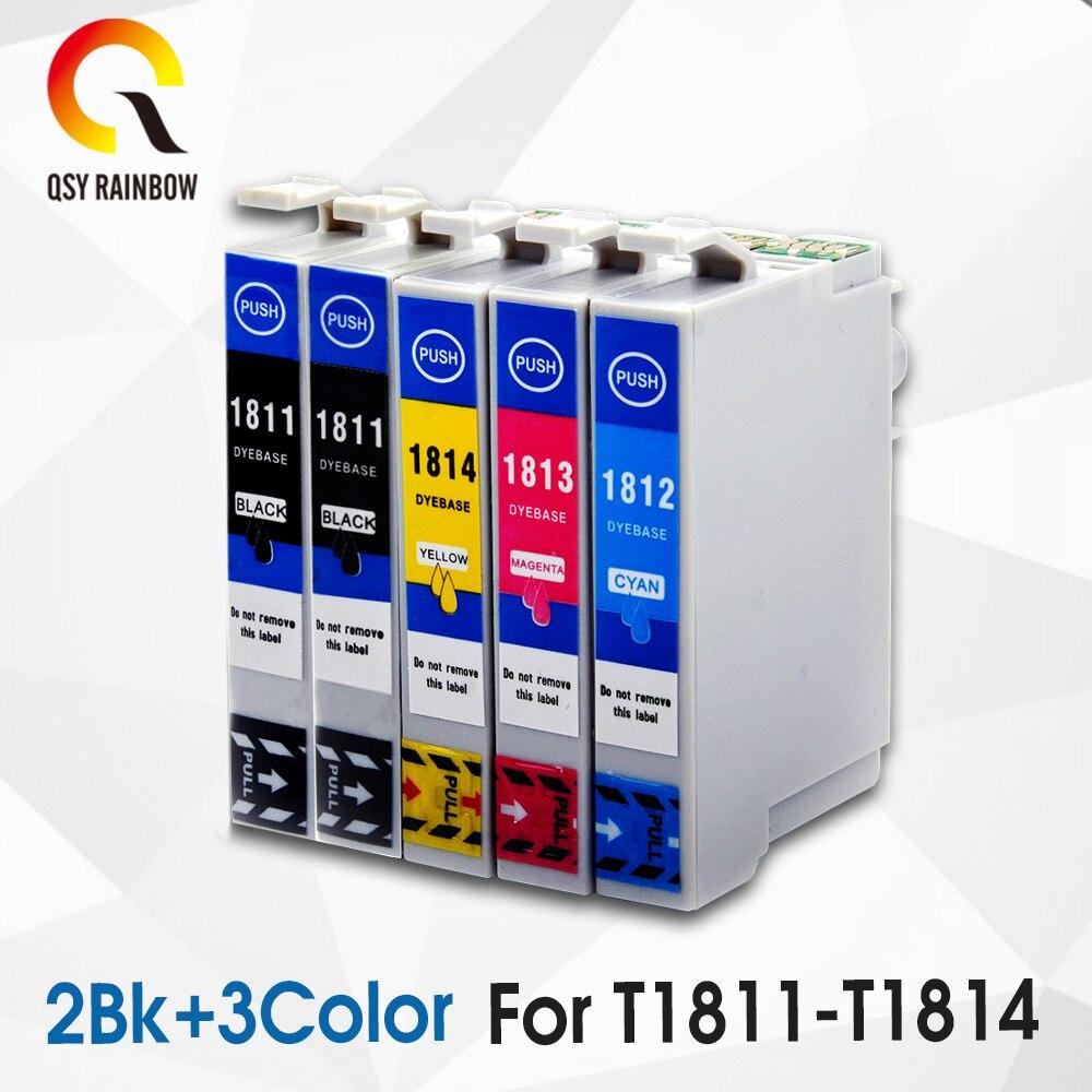 5 متوافق لإبسون 18XL T1811 الحبر خرطوشة XP315 XP212 XP205 XP305 XP322 XP415 XP302