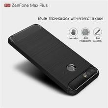 Pour Asus Zenfone Max Plus M1 ZB570TL boîtier en Fiber de carbone doux étui en polyuréthane thermoplastique pour Max Pro M2 ZB631KL ZB633KL M1 ZB602KL ZB602KL