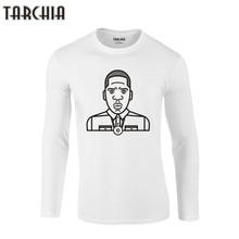 TARCHIA 2019 algodón 100% hombres hip hop camiseta JayZ tamaño Eur manga larga Camiseta música talla grande Homme nueva marca de moda rapero