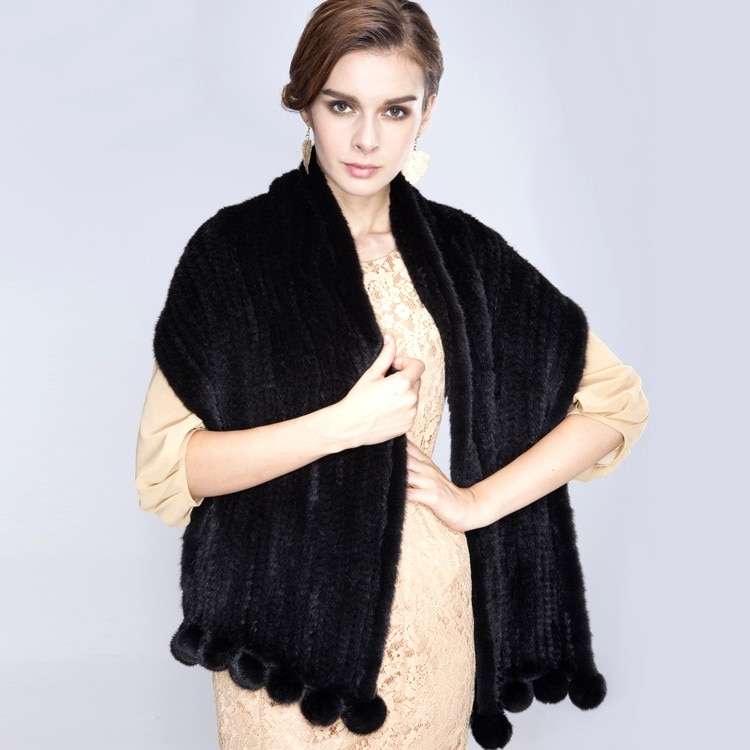 ZDFURS * Mink knit shawl scarf new short section of European and American mink fur shawl cape Specials