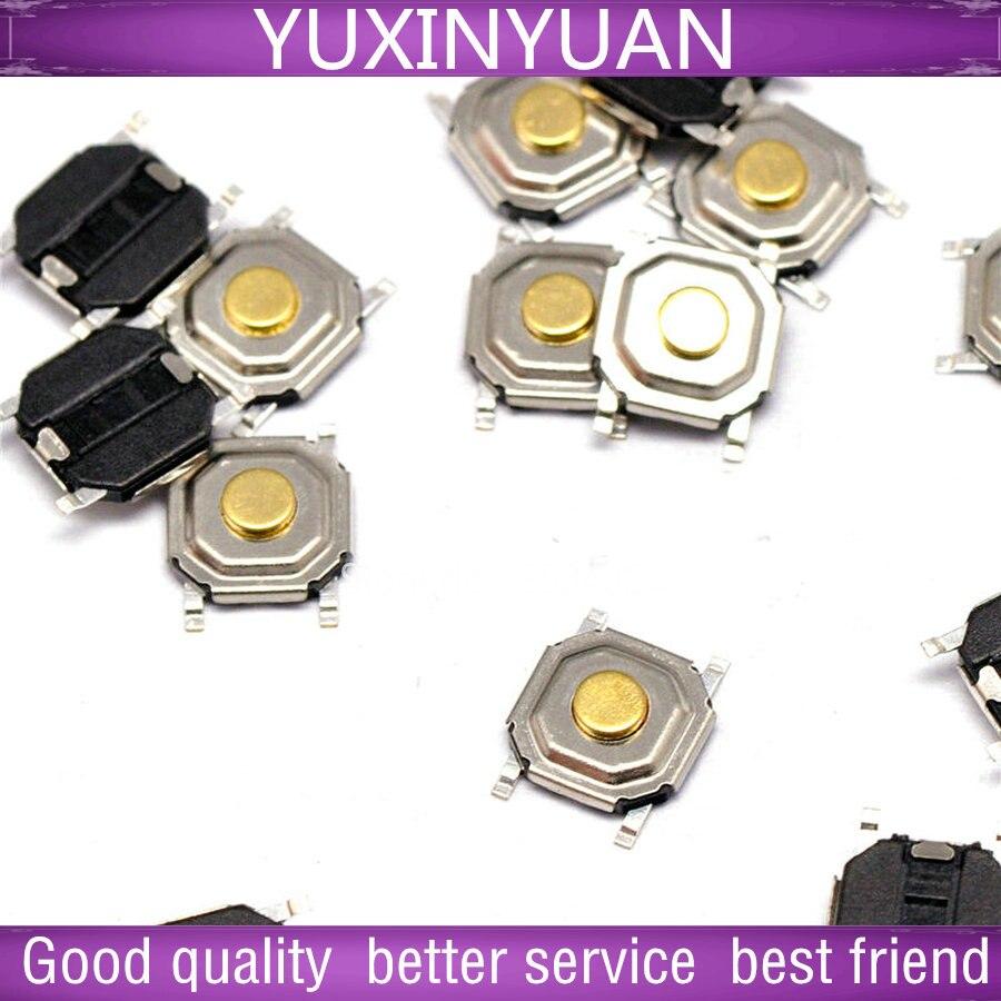 4 * 4 * 1.6 MM light touch switch patch 4 feet button/waterproof copper copper head 10pcs/lot