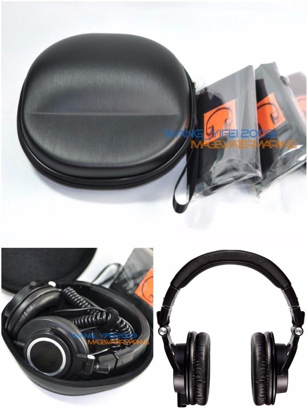 تكنيكا-صندوق حقيبة حمل صلب لسماعات الرأس M30 و M40x و M50 و M50s و M50x