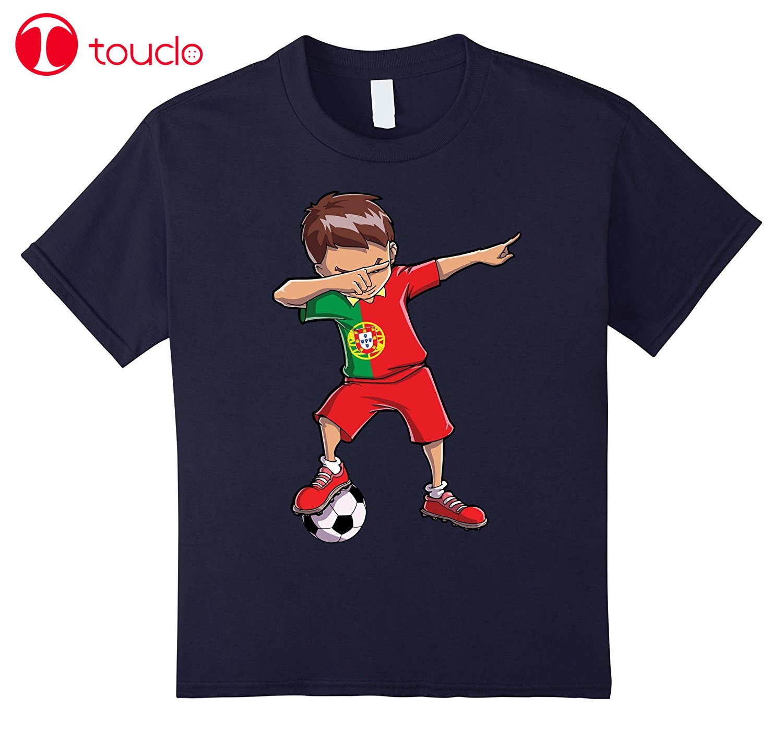 2019 Venta caliente Dabbing Soccers camiseta para niños Portugal fútbol camiseta suéter